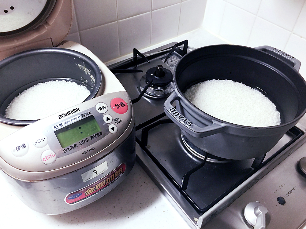 ストウブ 炊飯 炊く