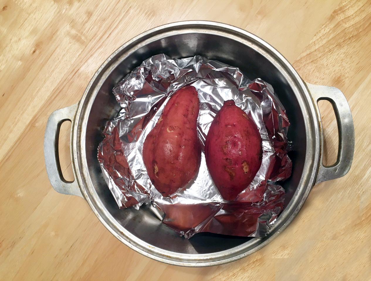 無水鍋 焼き芋 作り方2