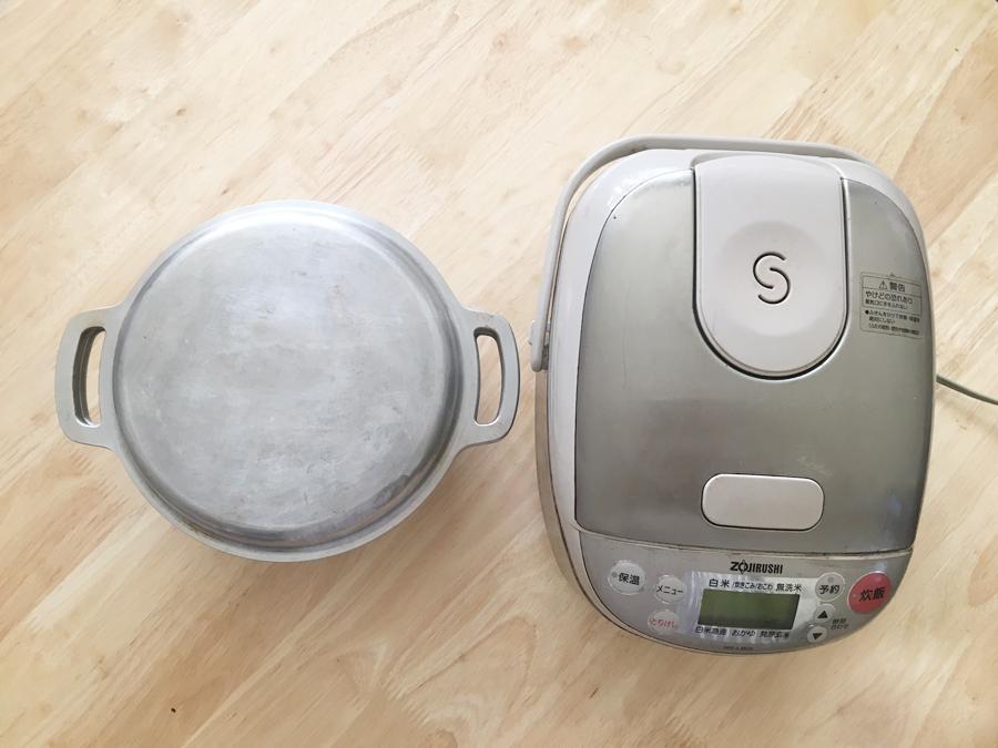 無水鍋 炊飯 炊飯器と食べ比べ