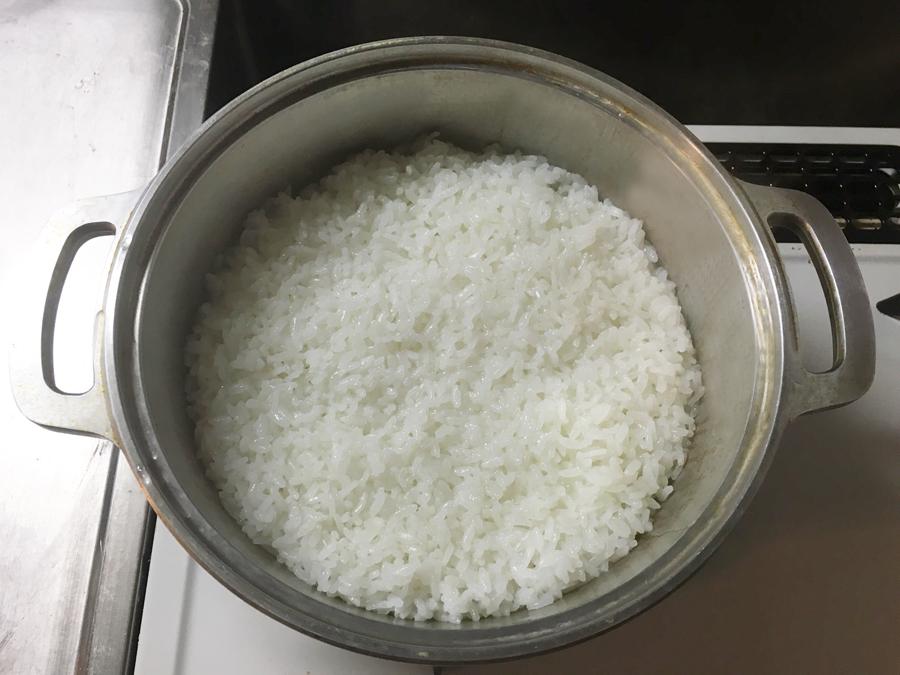 無水鍋 炊飯 炊き上がり