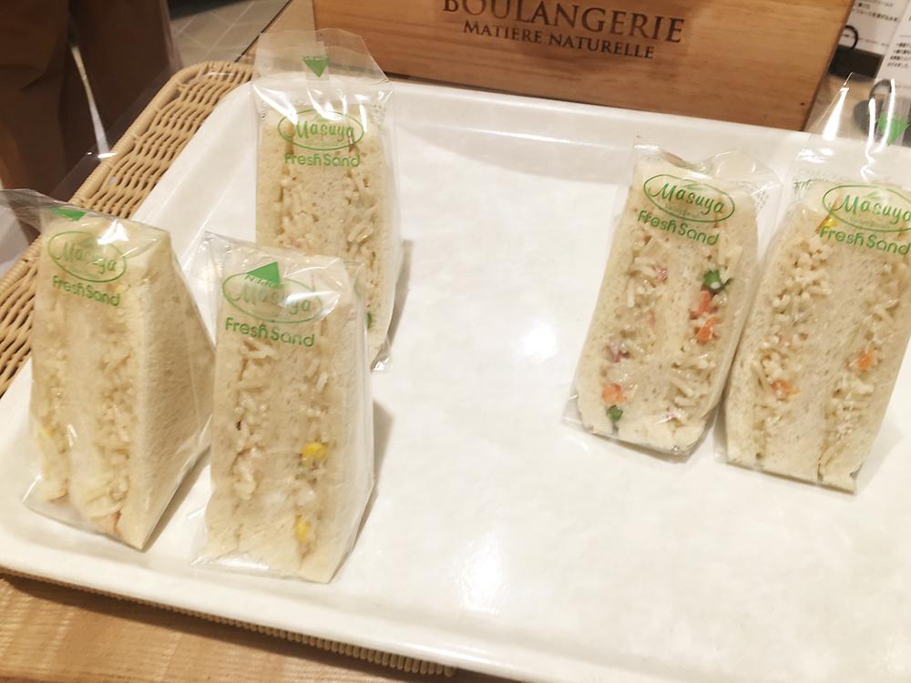 満寿屋商店(ますやパン)東京本店 白スパサンド